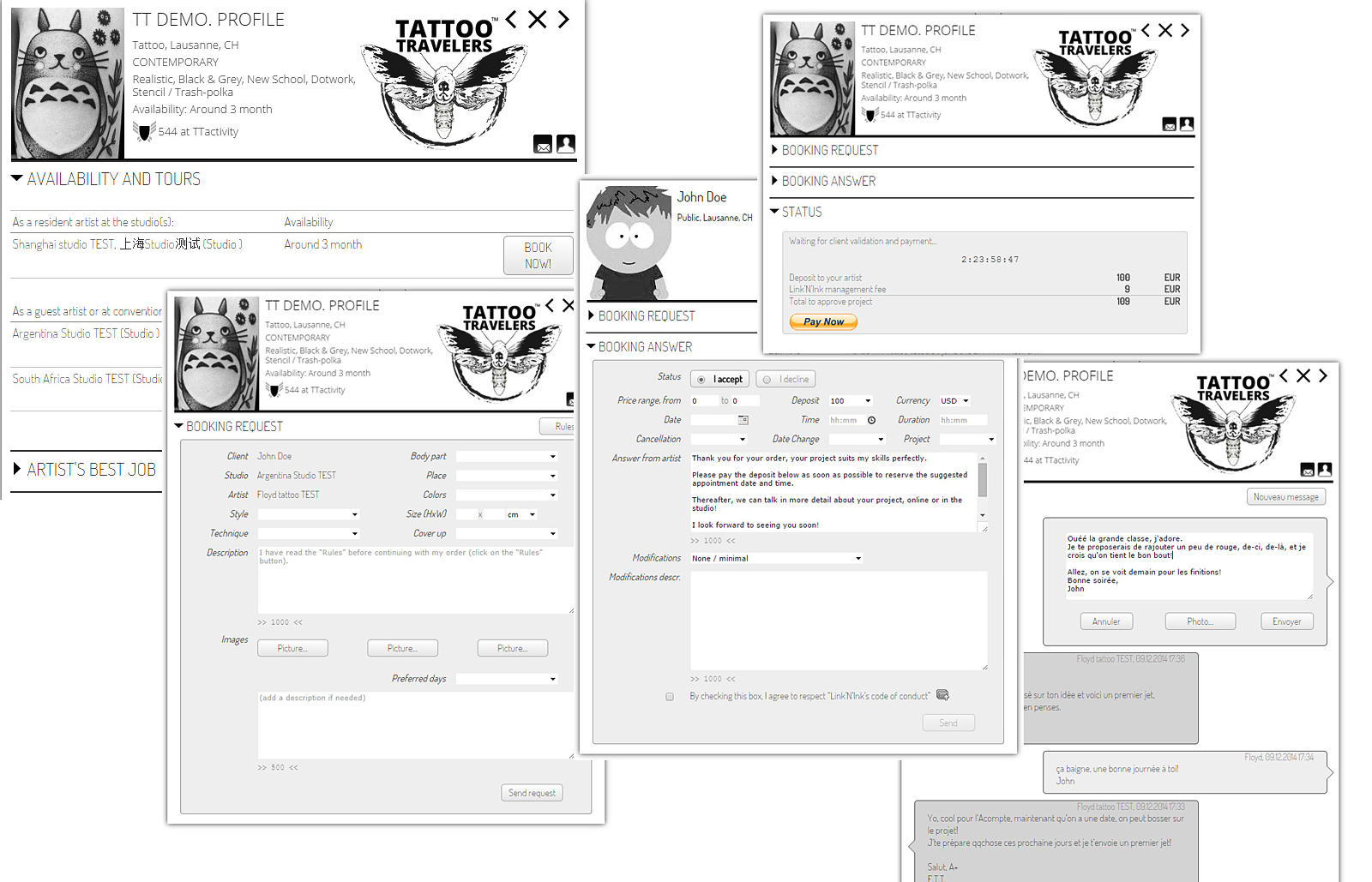 Booking process is ready now and free to use « Tattoo Travelers